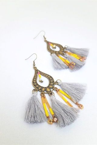 Golden Hour Tassel Earrings