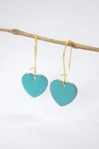 Turquoise Love Drop Earrings