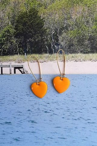 Tangerine Love Drop Earrings