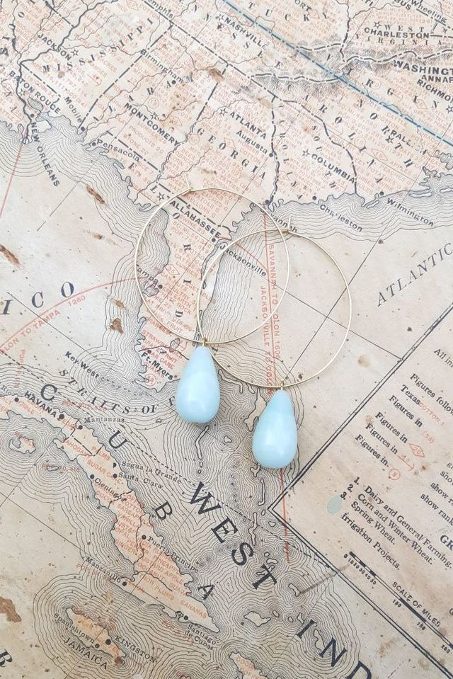 Ondine Amazonite Hoop Earrings